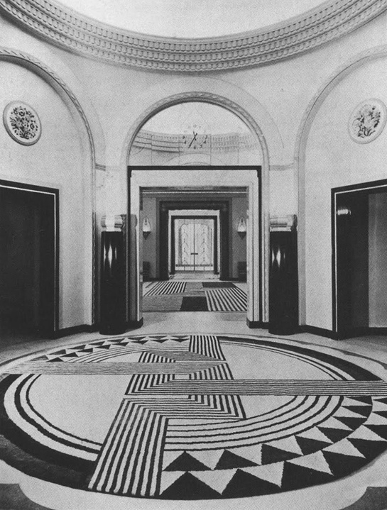 Claridge Hotel With A Carpet Designed By Marion Dorn Photo C1934 From Martin Battersbys Book Art Deco InteriorsVintage InteriorsFloor DesignSet