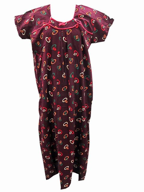 Hippie Gypsy Cotton Nightwear Dress Bohemian Maxi Cotton Dress
