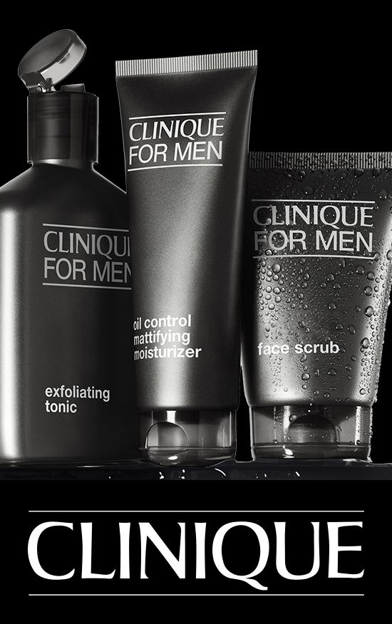 Great skin for him in three steps. Clinique For Men.