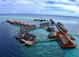 Kapalai Resort, Sipadan Malaysia. One of most beautiful diving spot & relaxation resort
