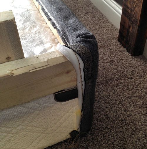 frame and upholster a box spring to make a platform bed brilliant