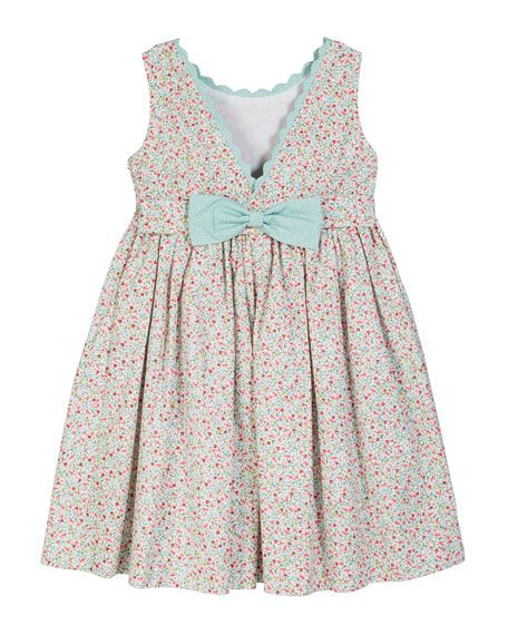 3090a15ad48ba Floral Scalloped-Trim Smocked Dress Size 2-4T | NM SPRING/SUMMER ...