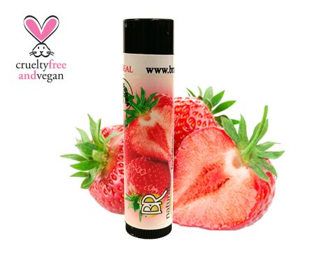 NATURAL STRAWBERRY LIP BALM Strawberry, to really get those lips popping.