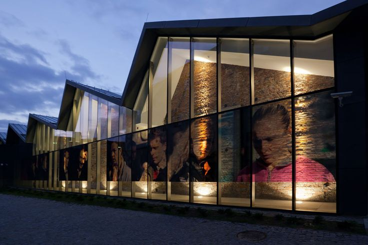 Transparent digital prints on windows in MOCAK (Museum of Contemporary Art in Kraków)  #design #art #architecture