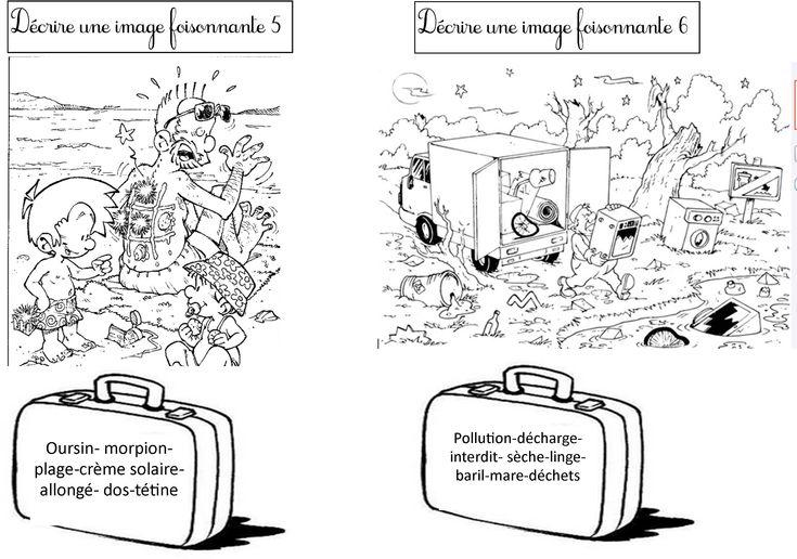 Des images foisonnantes avec des valises de mots outils pour lancer des productions écrites en CE1 CE2
