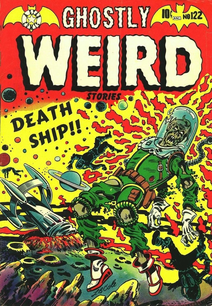 Ghostly Weird Stories 122 Comic Book Cover Art Giclee Reproduction on Canvas