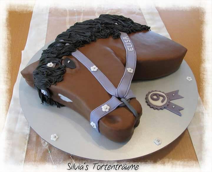 Silvia's Tortenträume: Pferdekopf Kuchen Cake Pferd Pferde-Kopf Anleitung Tutorial Extruder Fondant