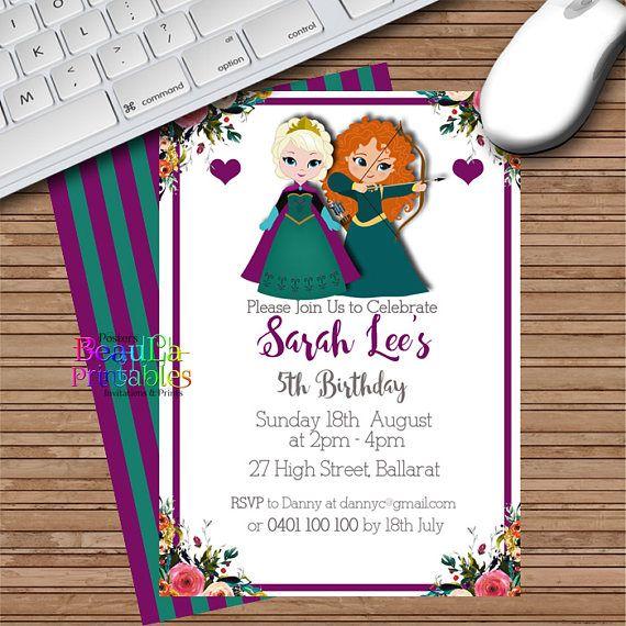 Birthday Party Invitations Princess Invitation Girl