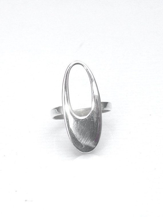 Hole Ring  Cut Out Oval Ring  Open Oval Ring  by profoundgarden