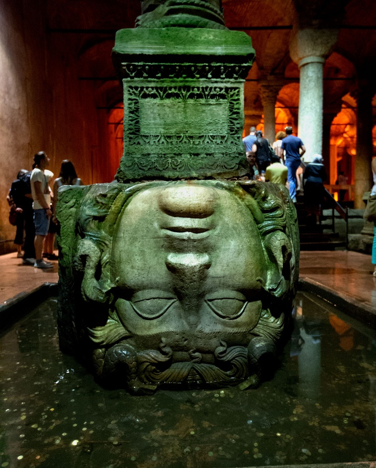 Basilica Cistern: The cistern, located 500 feet southwest of the Hagia Sophia on the historical peninsula of Sarayburnu, was built in the 6th century during the reign of Byzantine Emperor Justinian I.