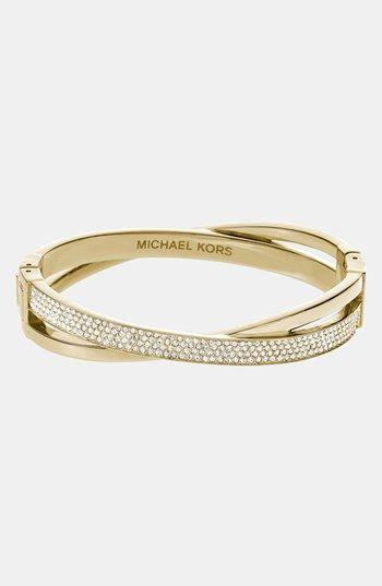 Michael Kors 'Brilliance' Crisscross Hinged Bracelet available at #Nordstrom