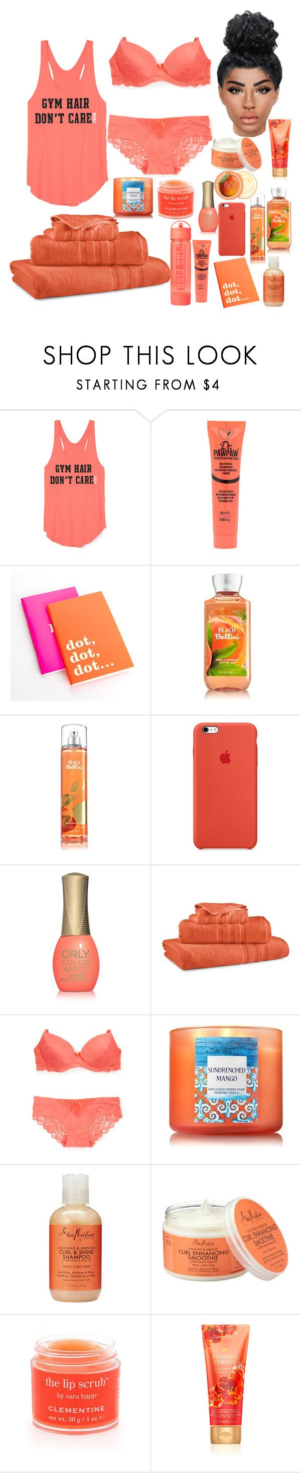 """Let me be LAZY in PEACH // Homebody"" by noieelovesyou ❤ liked on Polyvore featuring Victoria's Secret, Dr. Paw Paw, Kate Spade, ORLY, Ralph Lau..."