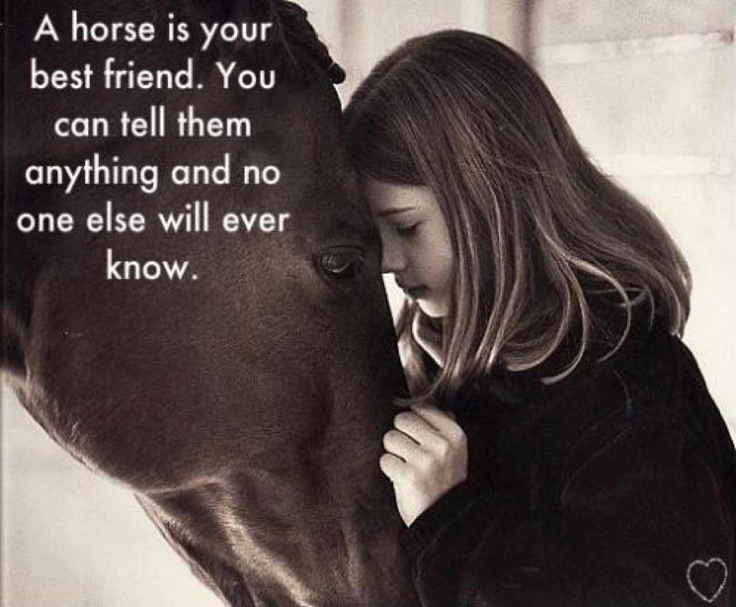 My horses were ALWAYS MY BEST FRIENDS growing up threw some pretty rough times!!