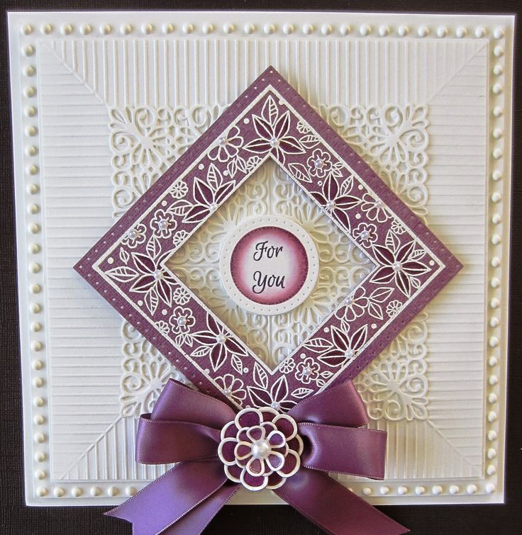 """Hello there my crafty friends! I wanted to show off a brand new embossing folder today. The background for this card was done with our new 8"""" x 8"""" folder called Scored Lines. I have done this techn"""