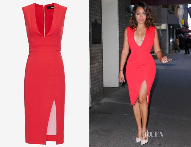 La La Anthony's Nicholas Deep V Bandage Dress