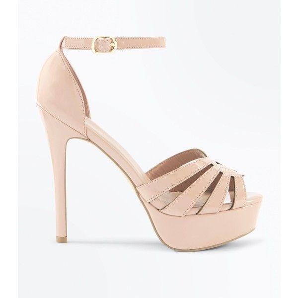 Best 25  Cream strappy high heels ideas on Pinterest | Neutral ...