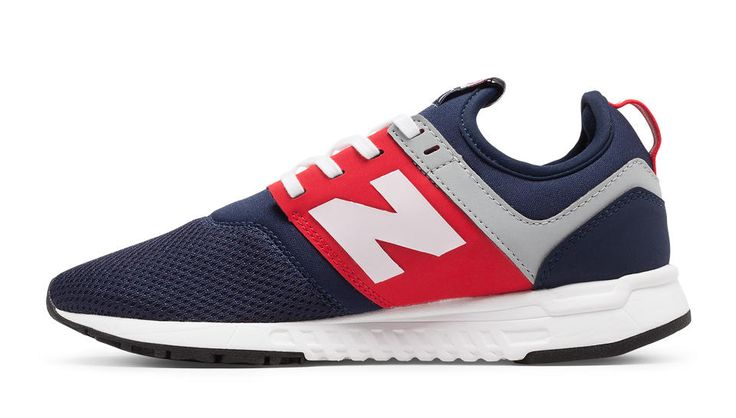NB x J.Crew 247, Blue with Red & White