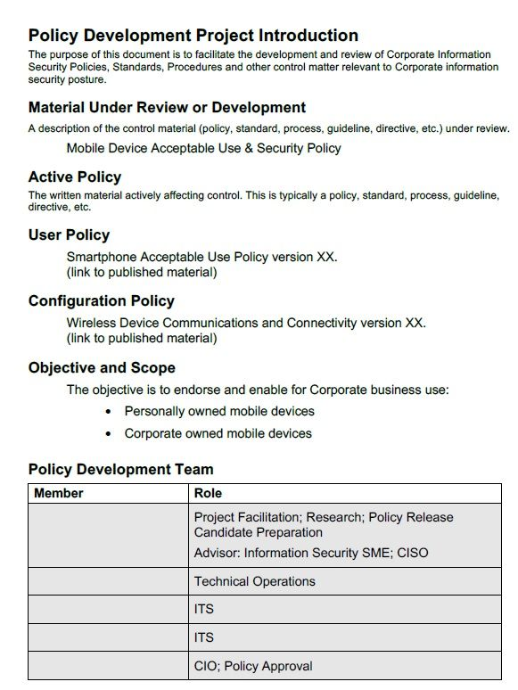 Cell Phone Policy Template For Companies Corporate Restaurants Template Sumo Policy Template Policies Templates