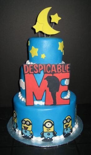 3 Tier Despicable Me Birthday Cake: Baby Shower Cakes, Cakes Ideas, Cakes Masterpiece, Birthday Parties, Cakes Cak Mama, Cakes Cupcakes Recipes Ideas, Despicable Me Cakes, Birthday Ideas, Birthday Cakes