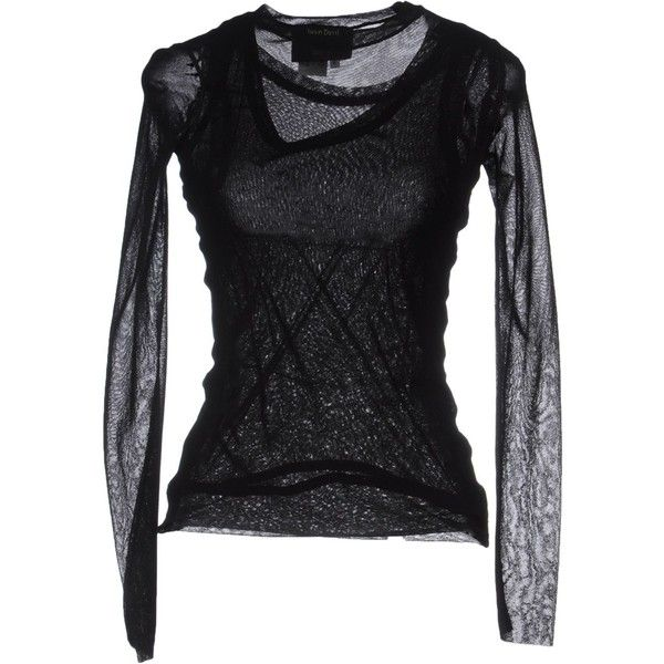 JEAN PAUL GAULTIER MAILLE FEMME T-shirt ($194) ❤ liked on Polyvore featuring tops, t-shirts, black, long sleeve t shirt, jean-paul gaultier, longsleeve t shirts, black long sleeve t shirt and black long sleeve top