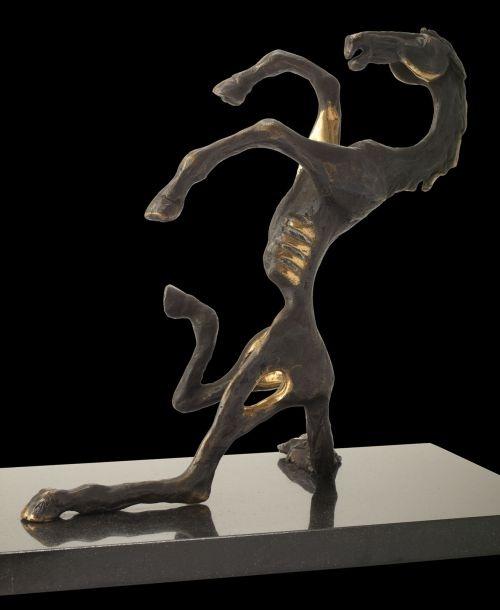 Bronze Allegorical sculpture by artist Ani Mollereau titled: 'You must be Joking (rearing horse bronze)' £2530 #sculpture #art