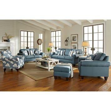 Marina Upholstery 2 Pc. Sleeper Living Room W/Chair | Furniture.com.  Landhausstil MöbelWohnzimmer MöbelPolstermöbelKüsten WohnzimmerStrand ...