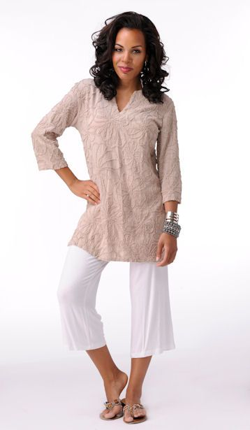 Elegantly Styled Pre-shrunk cotton tunic  Price: $64.99