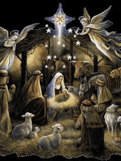 Images of Jesus birth animated with movement