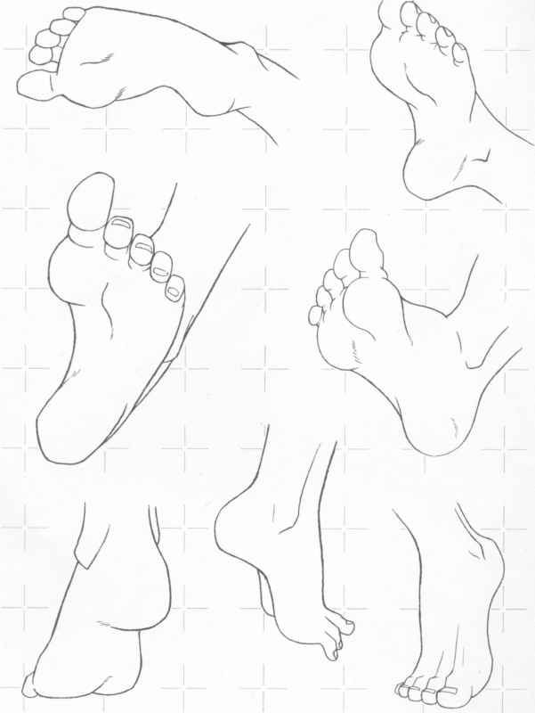 drawing feet  || CHARACTER DESIGN REFERENCES | Find more at https://www.facebook.com/CharacterDesignReferences