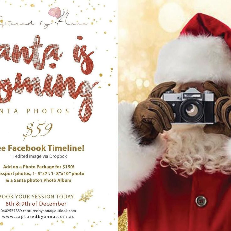 Did you know??? SANTA is coming to kilmore!!! Dont fight the queues at the big shopping centres... come in and have a memorable Santa photo experience in a professional photography studio!
