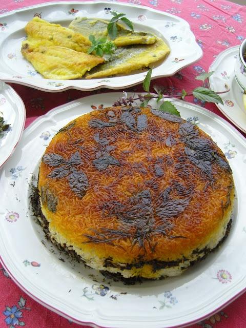 Sabzi Polo' Mahi , Riso con le erbe e pesce fritto Viva la Primavera, Erbe Aromatiche e Nowruz !