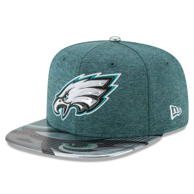 Philadelphia Eagles New Era Youth 2017 NFL Draft On Stage Original Fit 9FIFTY Snapback Adjustable Hat - Green