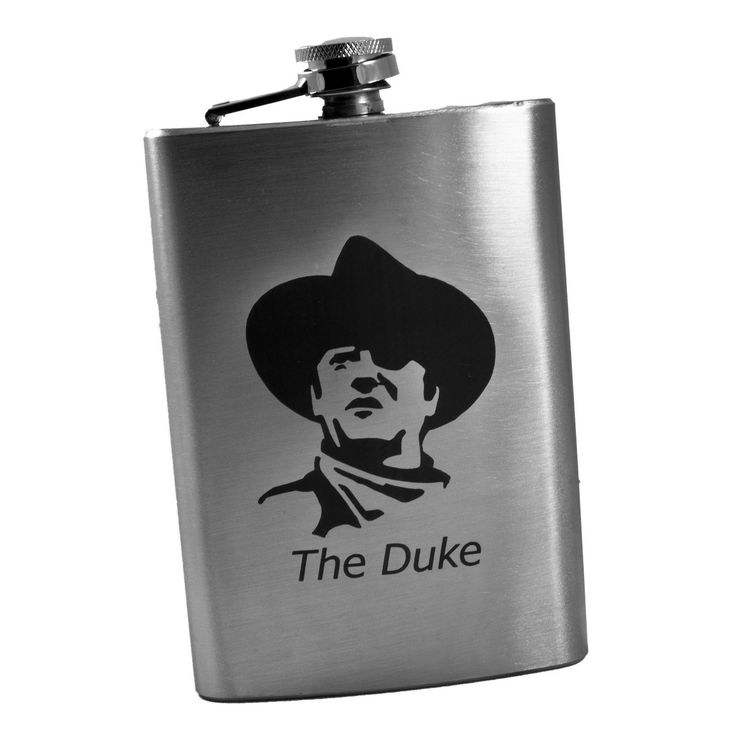 8Oz The Duke John Wayne Flask L1