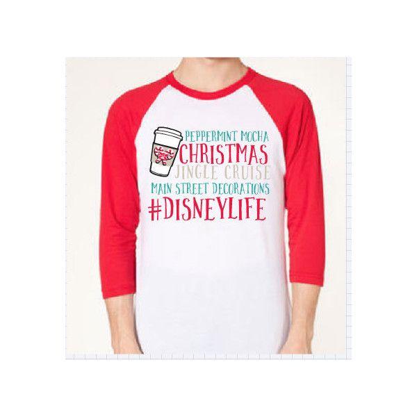 Disney Life Christmas Shirt Christmas Shirt Women's Tee Raglan Mickey... ($28) ❤ liked on Polyvore featuring tops, t-shirts, light pink, women's clothing, heat transfer t shirt, tee-shirt, unisex raglan tee, unisex t shirts and raglan t shirt