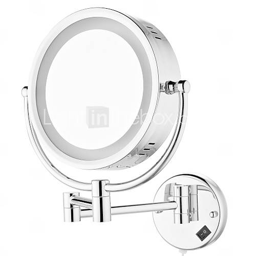 [USD $ 109.99] 8.5-inch Wall Mount Cosmetic Mirror with Light Chrome Finish