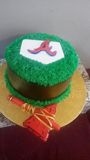 Pastel de cumpleaños los Bravos de Atlanta¡¡¡ Cumpleaños para niños¡¡¡