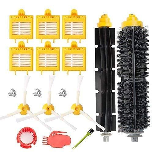 VACFIT Filter Side Brush Replacement Kit for Irobot Roomba