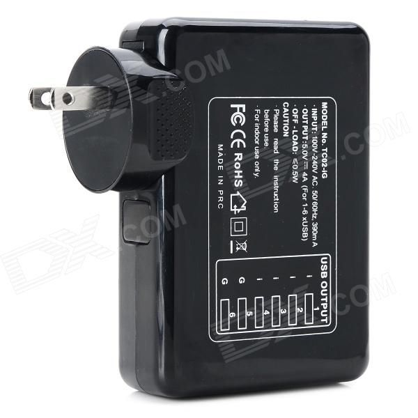 With 6-Port USB output interface; Can charge for Samsung Tablet, IPHONE, IPOD, IPAD, PSP, MP3, MP4, etc. http://j.mp/1v2zyqu