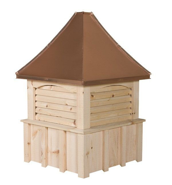 Square White Pine Cupola With Louvers And Concave Copper Roofs Only 269 00 Cupolas N More Copper Roof Cupolas Roof Design