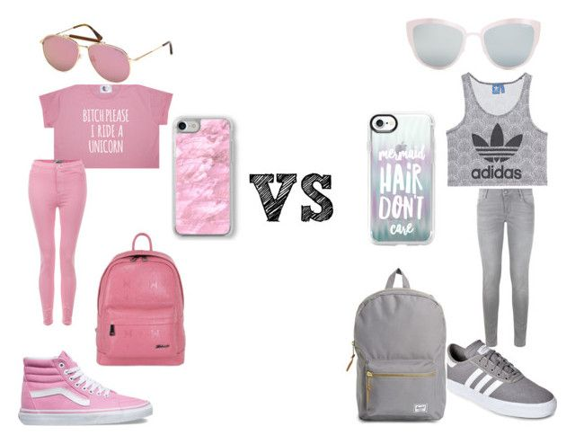 """""""pink vs grey"""" by bluefirefox on Polyvore featuring Vans, Metrocity, Tom Ford, Recover, adidas Originals, Maje, adidas, Herschel Supply Co., Topshop and Casetify"""
