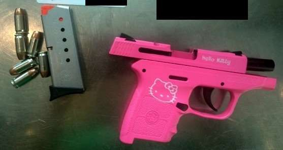 2016's Most Unusual Finds at Airport Security  Hello Kitty pistol:    Hello Kitty pistol ‐ Bradley International Airport
