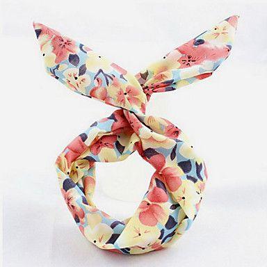 EUR € 2.75 - Bloemen / Stripe / Wave Stof Konijn Oor haarband hoofdband, Gratis Verzending voor alle Gadgets!