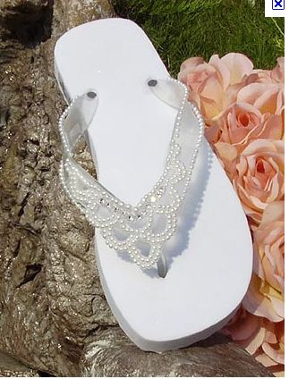 I would so wear these for a beach wedding!!