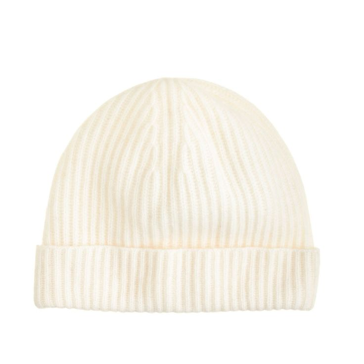 J.Crew Ribbed Women's Cashmere Hat in Snow-Winter Cap-One Size-NWT $78 #JCrew #WinterCap