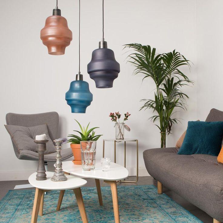 Hanglamp Rose - Blauw - E27 - Cabin Living