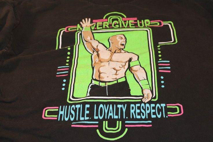 WWE Authentic John Cena  You Can't See Me TShirt Hustle Loyalty Respect 2XL  #WWE #GraphicTee