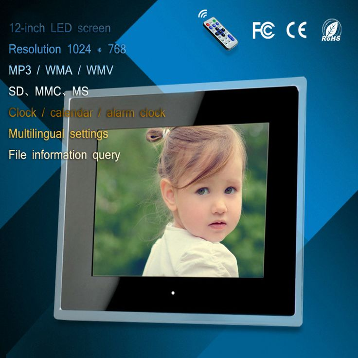 ==> [Free Shipping] Buy Best 12 inch acrylic LED digital photo frame advertising machine mp3/mp4 play usb/card clock calendar display multi-language settings Online with LOWEST Price | 32811929641