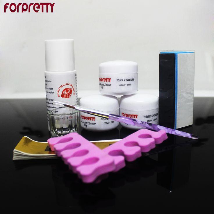 Manicure Acrylic Nail Kit Nails Acrilico Diy Feramentas Unha Acryl Powder Set Tools Conjunto Nagellak Zestaw Do Paznokci Pincel
