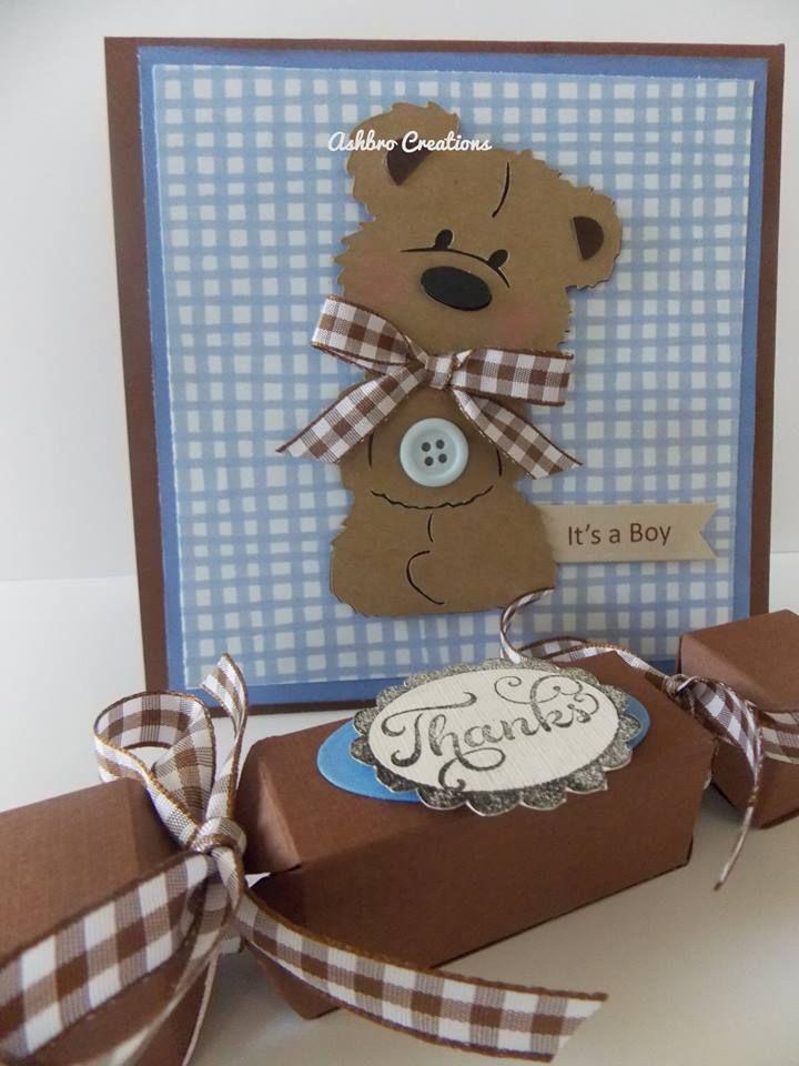 Teddy bear Baby shower, invitation and favor/ Ashbro Creations