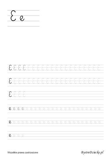 Nauka pisania dla dzieci, e pisane, pomoc w kształceniu grafomotoryki, Anna Kubczak